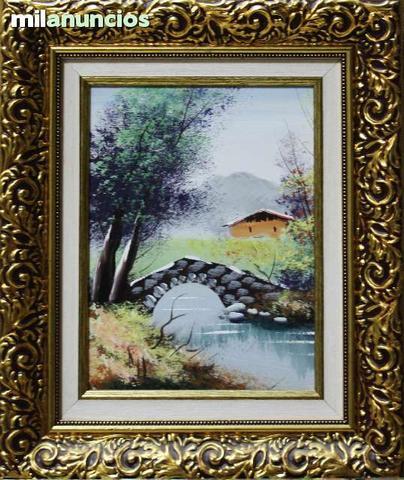 Cuadro de anÓnimo - paisaje con puente - foto 1