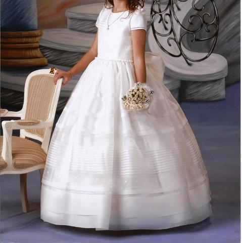 Vestido comunión seda satén - foto 1