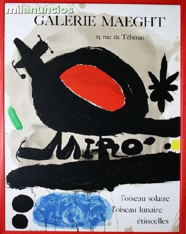 J.mirÓ, galerie maeght, l oiseau solaire - foto 1