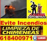 SERVICIO DESHOLLINADOR CHIMENEAS - foto
