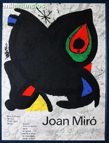 Cartel litogrÁfico de joan mirÓ - foto 1