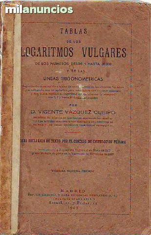 Tabla de logaritmos vulgares  1943 - foto 1