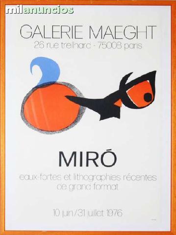 Cartel joan mirÓ, galerie maeght. 26 rue - foto 1