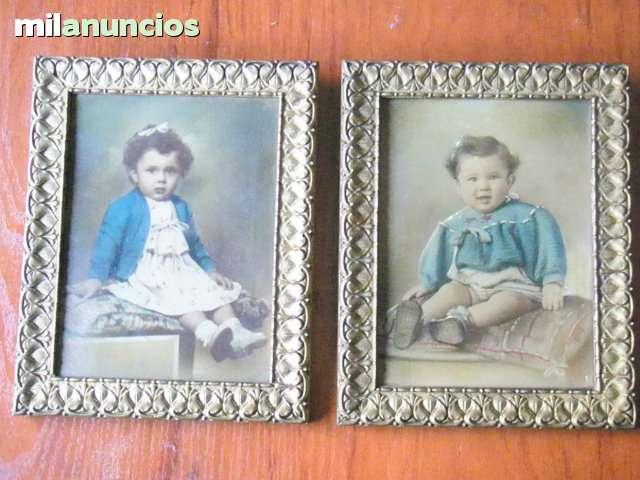 Fotografias enmarcadas niÑo y niÑa 1951 - foto 1