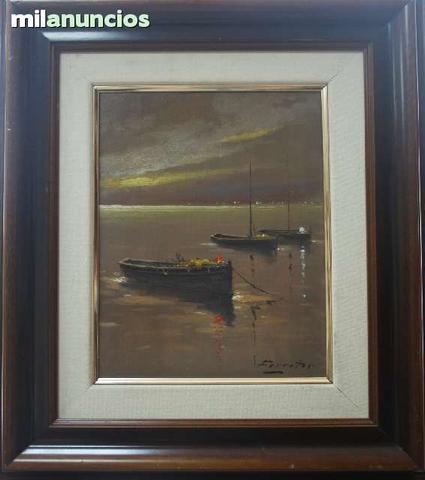 Antonio de ferreter - barcas al amanecer - foto 1