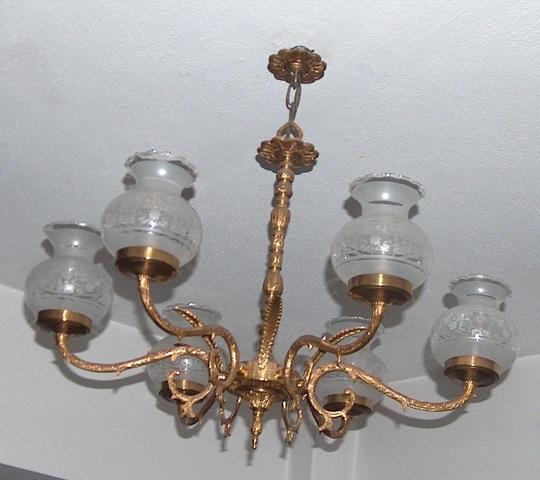 LÁmpara de bronce de seis brazos - foto 1