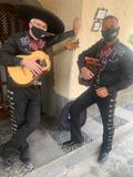 Mariachis en las palmas y su acordeÓn - foto