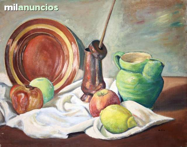 BodegÓn de frutas y cerÁmicas - n.riu - foto 1