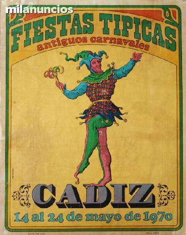 Cartel de turismo - cÁdiz, carnavales - foto 1