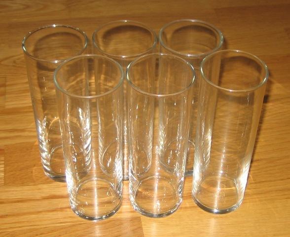 6 vasos de tubo - foto 1