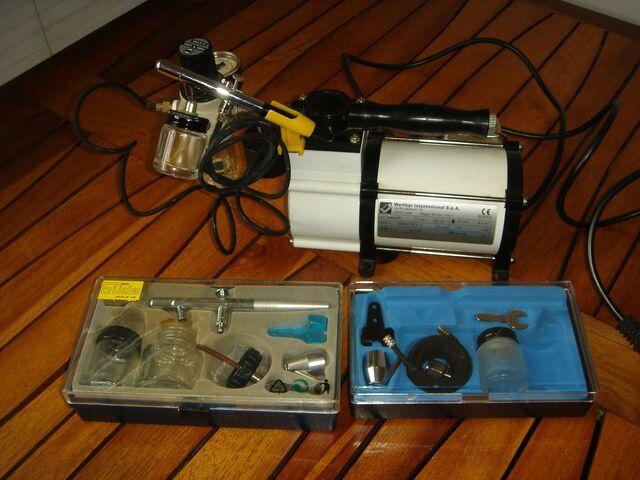 Compresor y dos aerografos - foto 1