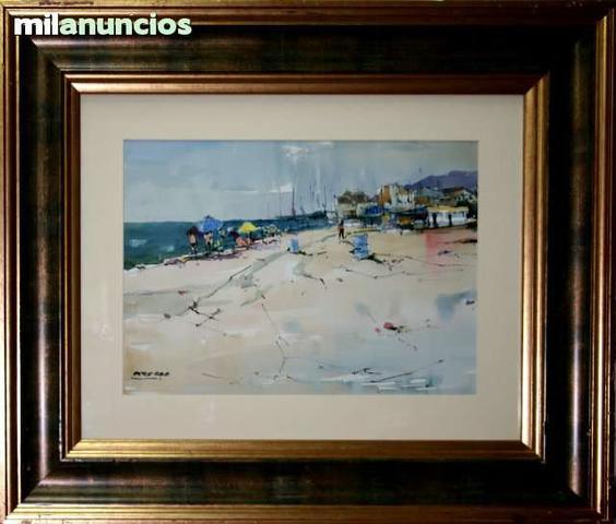 Acuarela pere ros - baÑistas en la playa - foto 1