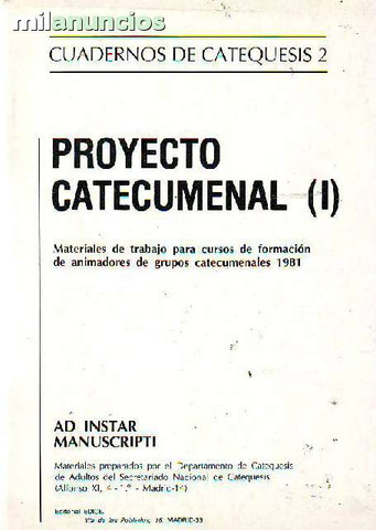 Cuaderno catequesis 2. proyecto catecume - foto 1