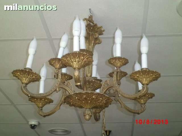 Lámpar antigua de bronce. - foto 1