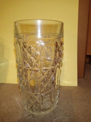 4 vasos vintage, cristal roca, tallado a - foto 1