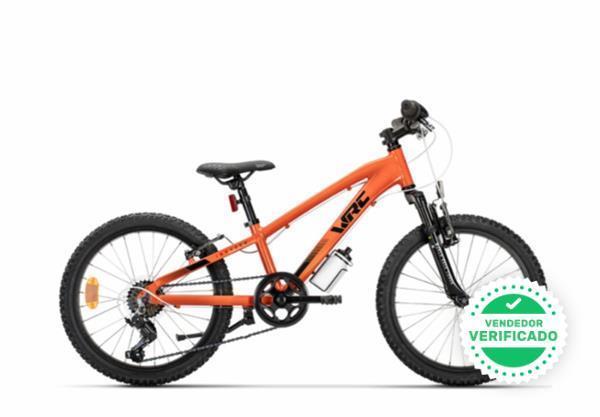 "bicicleta wrc invader-x \""20\"" naranja - foto 1"