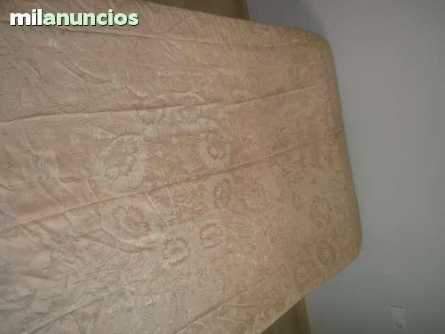 Colcha antigua  de sedina rosa palo - foto 1