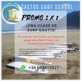 PROMO 2X1 CLASES DE SURF LANZAROTE