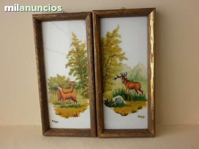 2 cuadros pintados sobre plÁstico aÑo 60 - foto 1