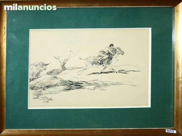 Antonio casero sanz - huyendo del toro - foto 1