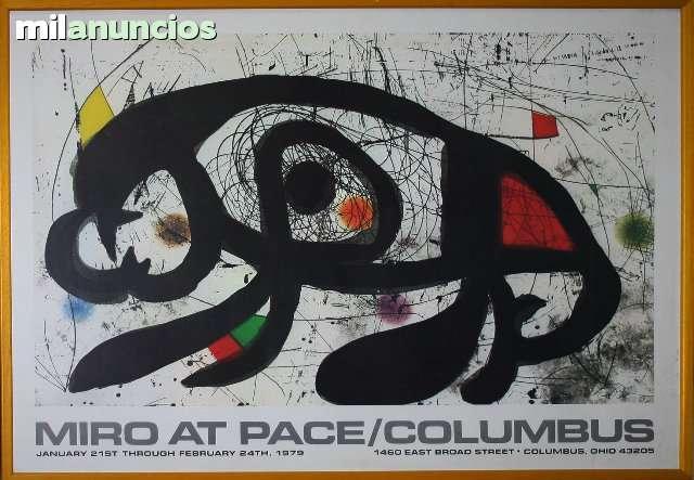 Cartel mirÓ at pace columbus/grande - foto 1
