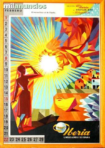 Iberia, calendario mayo 1959 - foto 1