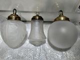 3 LAMPARAS GLOBO CRISTAL,ANTIGUOS