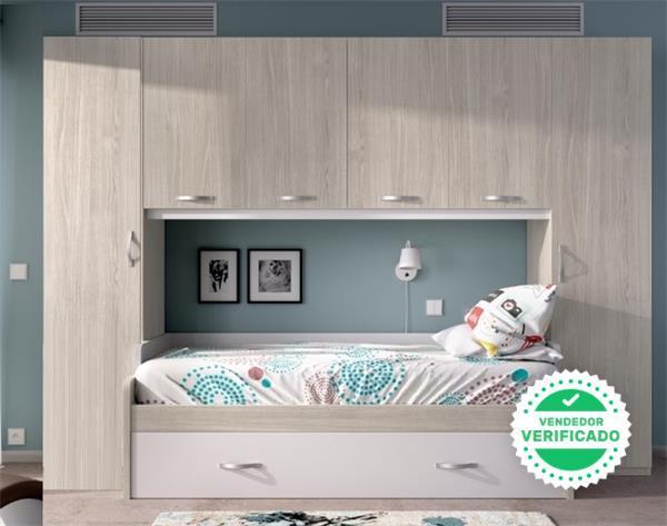 Composición con doble cama y altillo* - foto 1
