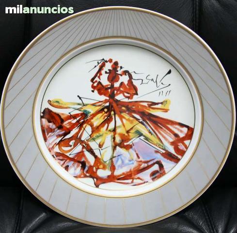 Plato de porcelana de salvador dalÍ - foto 1