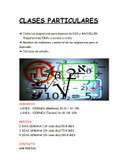 CLASES PARTICULARES MATEMÁTICAS ESO/BACH