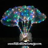 Globos LED transparentes de corazones - foto