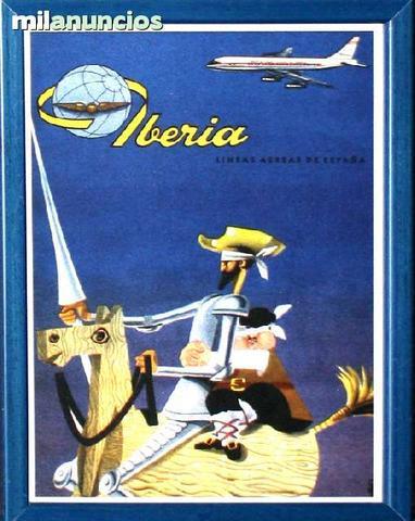 Cartel de iberia, estampa espaÑola - foto 1