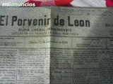 PERIODICO EL PORVENIR DE LEON 1918