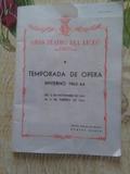 TEMPORADA OPERA.LICEO DE BARCELONA. 1963