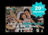 ¡¡TODOS LOS ESPECTÁCULOS AL 20% DTO!!
