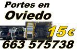 Portes en Oviedo a 15 euros  663-575738 - foto