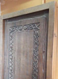puerta entrada rustica madera - foto