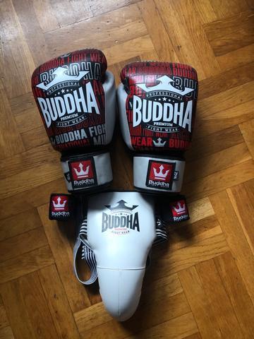 Guantes de boxeo+coquilla+vendas - foto 1