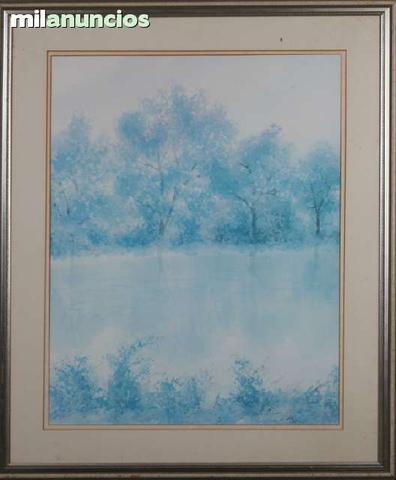 Pintura de paisaje azul de anÓnimo - foto 1