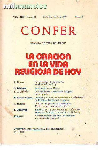 Revista CONFER: La oración en la vida re - foto 1