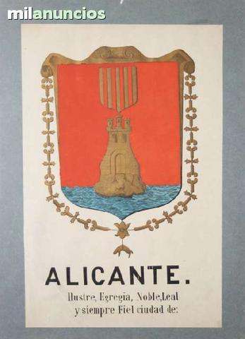 Cartel turÍstico del escudo de alicante - foto 1