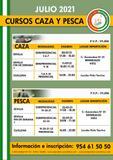 CURSOS ONLINE CAZA Y PESCA JULIO 2021