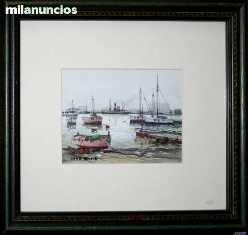 Acuarela de josÉ olivÉ - barcas - foto 1