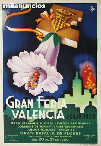 Cartel de gran feria de valencia, 1950 - foto 1