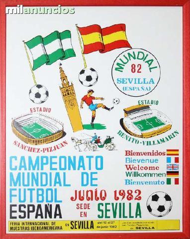 Cartel sevilla. sede mundial espaÑa 82 - foto 1