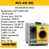 DESHUMIDIFICADOR ABSORCIóN MCS ASE 200