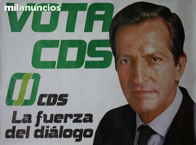 Cartel cds, aÑos 80 - adolfo suÁrez - foto 1