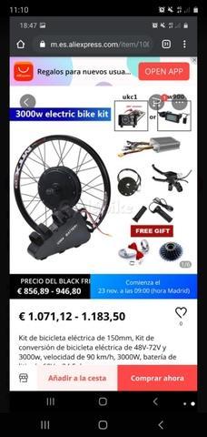 kit bicicleta eléctrica 3000w con bateri - foto 1