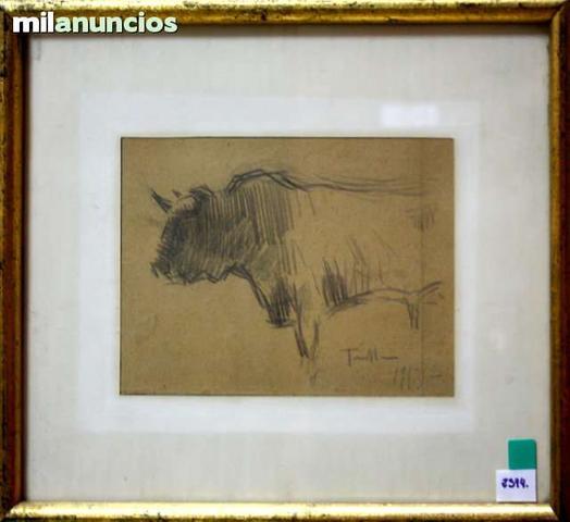 Joaquim terruella - cuadro de toro - foto 1