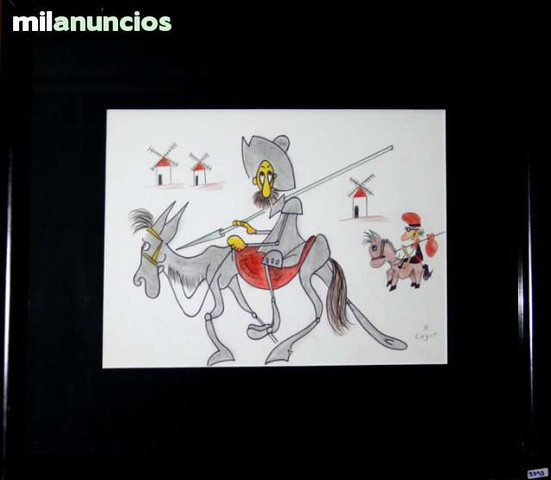 Dibujo de xavier cugat - don quijote - foto 1